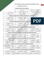 Formulario Cálculo Integral y Diferencial
