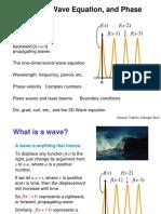 PHY431 Slides Waves RevisedVersionBasedOnTribinoNotes