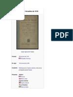 Tratado de Versalles de 1919