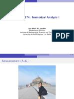 Slides on Numerical Analysis