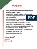 Java Expresión Lenguaje EL