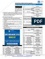 Current Affairs August 2018 Hindu Review IBPS RRB PO Clerk Mains 2018