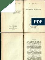 Cuestiones académicas- Cicerón