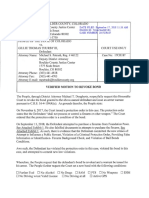 Motion to Revoke Bond for Gillie Thurby III