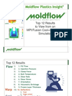 Top12-Results From Moldflow