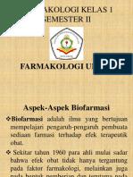 Farmakologi Kelas 1 Semester II Aspek Biofarmasi