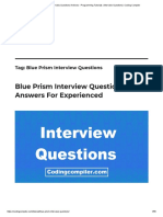 Blue Prism Interview Questions Archives - Programming Tutorials _ Interview Questions _ Coding Compiler