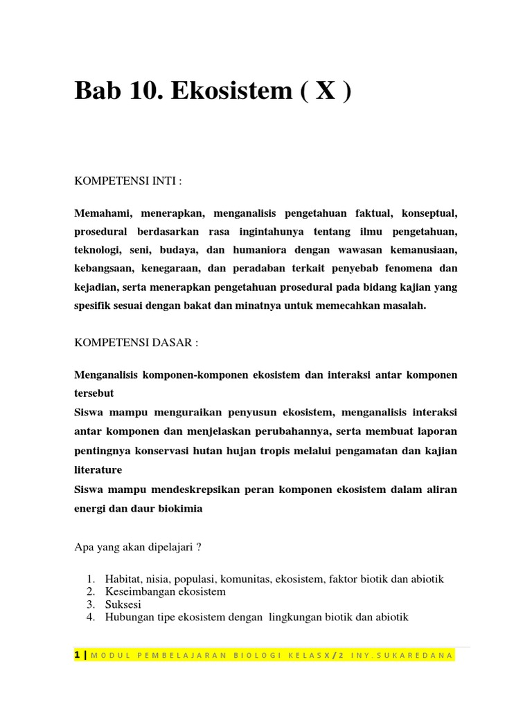 Bab 10 Ekosistem