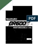Wartungsanleitung Suzuki DR 600 Teil 1 (German)