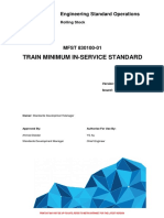 L1 CHE STD 003 Train Minimum in Service Standard