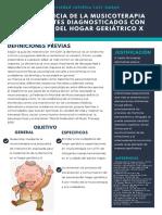 La influencia de la musicoterapia en pacientes diagnosticados con demencia del hogar geriátrico X