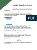 Cara Menghitung Ketebalan Pipa Menurut Asme B31