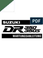 Wartungsanleitung Suzuki-Dr350 1991-97 (German)