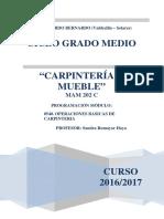 Programacion Ob Carpintería 2016 17