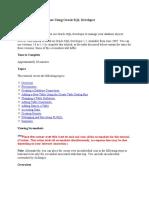Managing Your Database Using Oracle SQL Developer