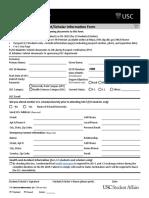 New International Student Scholar Information Form