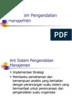 1. Sistem Pengendalian Manajemen