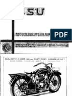 Ersatzteiliste NSU 500 -501 T Ab Bj 1930 (German)