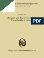 Sambursky-Religion Und Naturwissensachft Im Spaetantiken Denken