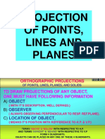 Projection of Points and Planes