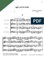 Quatuor Op.45 - Albert Roussel