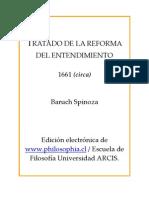 Spinoza - Tratado de La Reforma Del Entendimiento