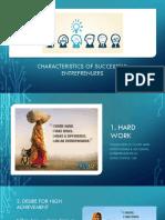 Characteristics Entreprenuers