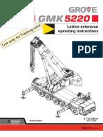 GMK 220 Operator Manuals