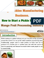 Mango Pickles Manufacturing Business