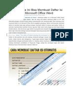 Dengan Cara Ini Bisa Membuat Daftar Isi Otomatis Di Microsoft Office Word-1