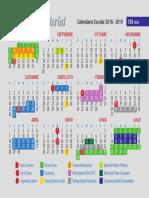 Calendarios SEP 185D 185