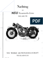 Nachtrag NSU 501-601 TS