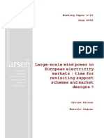 Large - scale wind power in European electricity markets