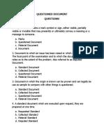 Criminalistics 4 Questioned Document