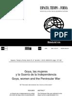 Goya, las mujeres y la Guerra de la Independencia