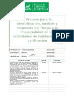 P 16 Proceso Para La Identif Analisis y Respu Del Riesgo Mparcialidad en...