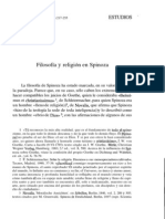 Filosofia y Religion en Spinoza - Sanz