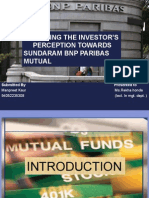 ANALYZING THE INVESTOR'S      PERCEPTION TOWARDS SUNDARAM BNP PARIBAS