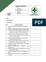 Format Daftar Tilik SOP Asuhan Keperawatan