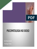 Psicopatologia No Idoso - 2ª Aula