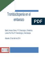 Trombocitopenia en El Embarazo