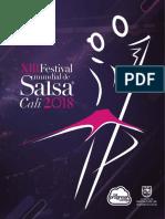 Revista  del  Festival Mundial de Salsa  de  Cali 2018