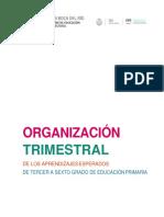 Organización Trimestral de Los Aprendizajes Esperados