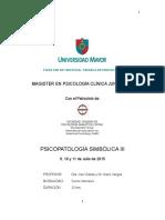 2015 Psicopatología Simbólica III - Programa