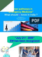 Career Pathways in emergency medicine