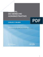 Manual de Derecho Administrativo. 3º Edicion. 2015. Carlos Balbin