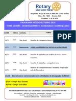 Programa Mês de Outubro 2018