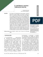 Conectividade Contínua e Acesso Movel a Informacao Digital