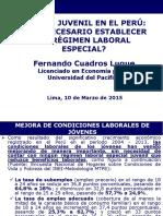 Empleo Juvenil en El Perú y Régimen Laboral Especial
