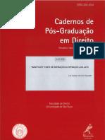Cadernos de Pós-graduação em direito 37 2016